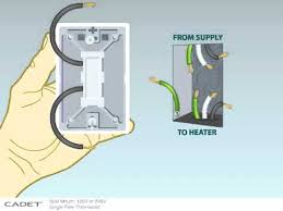 how to install a single pole wall mount thermostat to your cadet Double Pole Thermostat Wiring Diagram how to install a single pole wall mount thermostat to your cadet baseboard heater youtube wiring diagram for double pole thermostat