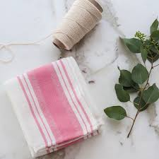 Layla Grayce Giovana Blush Pink Kitchen Towel Lggioktbp