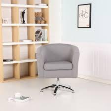 premium swivel tub chair armchair dining living room office fabric dark grey