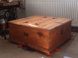 solid wood trunk coffee table storage box