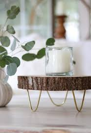 how to make a footed wood slice tray inspired by west elm for fraction of wood slice craftsdiy