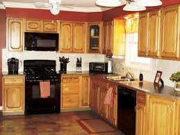 Kitchen Colors Black Appliances Kitchen Color Ideas With Oak Cabinets And Black Appliances