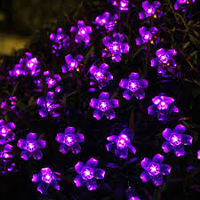 amazing garden lighting flower. Innoo Tech Solar Fairy Lights String 50 Led Garden Flower Blossom For Outdoor,Patio,Party,Christmas Tree-Purple: Amazon.co.uk: Kitchen \u0026 Home Amazing Lighting L