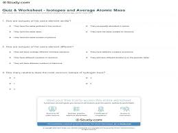 atomic theory 1.2 isotopes and average atomic mass worksheet ...