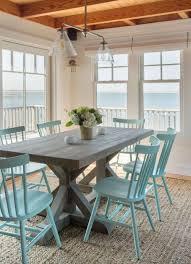beach house decor coastal. trestle tables in the dining room beach cottage stylebeach decorcoastal house decor coastal
