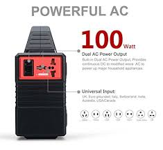 portable battery power supply. 100-watt portable solar generator power inverter, 40800mah 150wh li-on battery supply