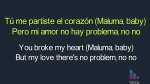 Maluma Corazón Lyrics English And Spanish Portuguese Ft Nego Do Borel Translation