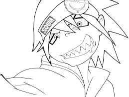 Soul Eater Evans Lineart By Kaerumiji