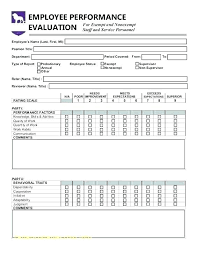 Employee Evaluation Form Magnificent Appraisal Document Template