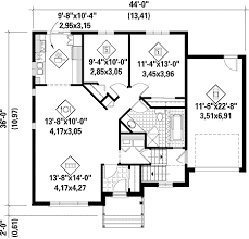floor plan of a one story house. Simple One-Story House Plan - 80631PM Floor Main Level Of A One Story