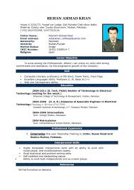 Word Format Resume Amazing Word Format Resume Cv Samples Download Pakistan Free Awesome Indian