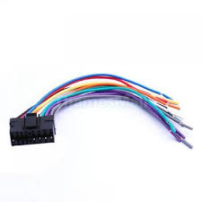 wire harness for jvc kd r730bt kdr730bt pay today ships today 16 pin jvc car stereo radio wire wiring harness plug diy