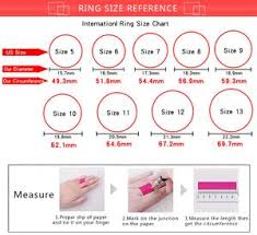 Female Ring Size Chart 100 Real 925 Sterling Silver Rings For Women Simple Classic Pink Enamel Wedding Band Ring Female 2019 Fashion Jewelry