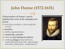 th century in english literature metaphysical poetry john donne 1572 1631