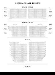Victoria Palace Seating Chart Victoria Palace Theatre Seating Plan Londontheatre Co Uk