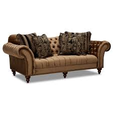 Value City Furniture Living Room Brittney Sofa And Chair Set Bronze Value City Furniture