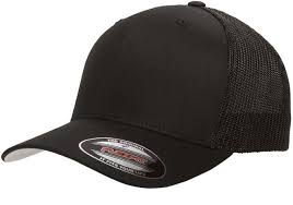 Flexfit 6511 Black Fitted Trucker Mesh Hat Size L Xl Or Xl Xxl Black Only