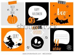 Halloween Gift Cards Halloween Gift Cards Set Autumn Bats Stock Vector Royalty