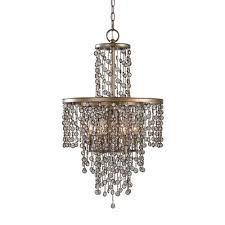 uttermost valka iron 6 light crystal chandelier