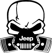 black jeep logo. decal skull with jeep logo vinyl for cartruck window black