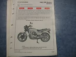 details about 80 81 cb750f cb750 f honda factory oem assembly set up manual wiring diagram
