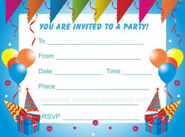 printable invitations for kids party and birthday invitation kids birthday invitation template