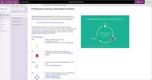 plc education professional learning communities groups in office365 nz education