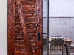 reclaimed mushroom wood sliding door