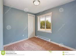 brown carpet floor. Small Light Blue Bedroom In Empty House Brown Carpet Floor