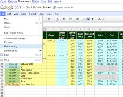 Stock Record Keeping Excel Sheet Free Online Investment Stock Portfolio Tracker Spreadsheet