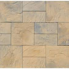 patio stones texture. Nantucket Pavers Patio-on-a-Pallet 10 Ft. X Concrete Tan Variegated Basketweave Yorkstone Paver-31034 - The Home Depot Patio Stones Texture A