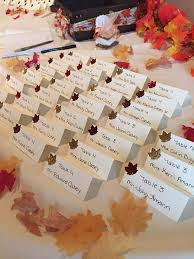 Fall Place Cards Fall Place Cards Or Escort Cards Falling In Love Fall