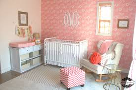pink nursery furniture. Awesome White Wrought Iron Crib Baby Nursery And Rocking Chairs With Pink Wall Furniture 2