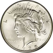 1925 Peace Silver Dollar Coin Value Facts