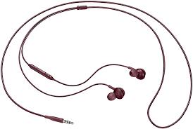 Tai nghe AKG Jack 3.5mm màu đỏ mận theo máy Samsung Galaxy dùng cho VIVO,  HTC, Huawei1 - Tai nghe có dây nhét tai Thương hiệu OEM