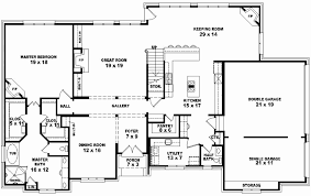 3 bedroom 3 5 bath 1 story house plans new 4 bedroom 2 bath floor plans stunning