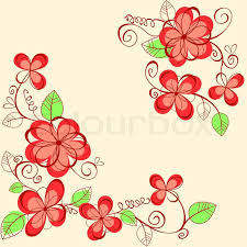 Flower Decoration Design Abstract Flower Background With Decoration Elements For Seasonal 12