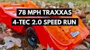 Traxxas 4 Tec 2 0 Gearing Chart 78mph Traxxas 4 Tec 2 0 Vxl Run On 35 55t Gearing