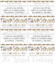 Thanksgiving Word Search 4 Inch Bag Topper To Match Stencibelles Stencil