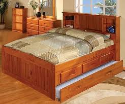 full size captains bed with storage.  Size Ridgeline Full Size Bookcase Trundle Captains Bed  Discovery World  Furniture DWF21213DRT See 4 More Pictures To With Storage A