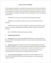 Free Consulting Agreement Form Hypertextsolutions