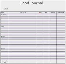 Word Templates Journal Weight Loss Certificates Printable Cute Top 5 Free Food Journal