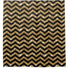 black and gold shower curtain. black and gold chevron pattern shower curtain t