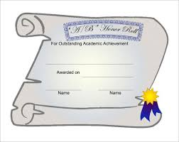 Certificate Of Honor Template Honor Roll Certificate Template Clipart Images Gallery For