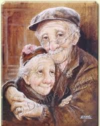 Altes Ehepaar Dianne Dengel Art Altes Ehepaar Alte Leute Und