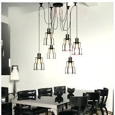 black dining room light fixtures dining room lighting idea with low ceiling industrial cage pendant lights