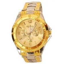 round dial gold and silver stainless steel strap men quartz watch round dial gold and silver stainless steel strap men quartz watch for men