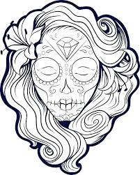 Sugar Skull Coloring Pages At Getdrawingscom Free For Personal