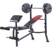Details About Weight Bench Weights Set Bar Press Dumbells Barbell Home Gym Body Workout