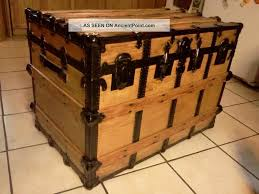 Steamer Trunk Furniture 1800s Antique Victorian Furniture Steamer Trunk X Large Restored